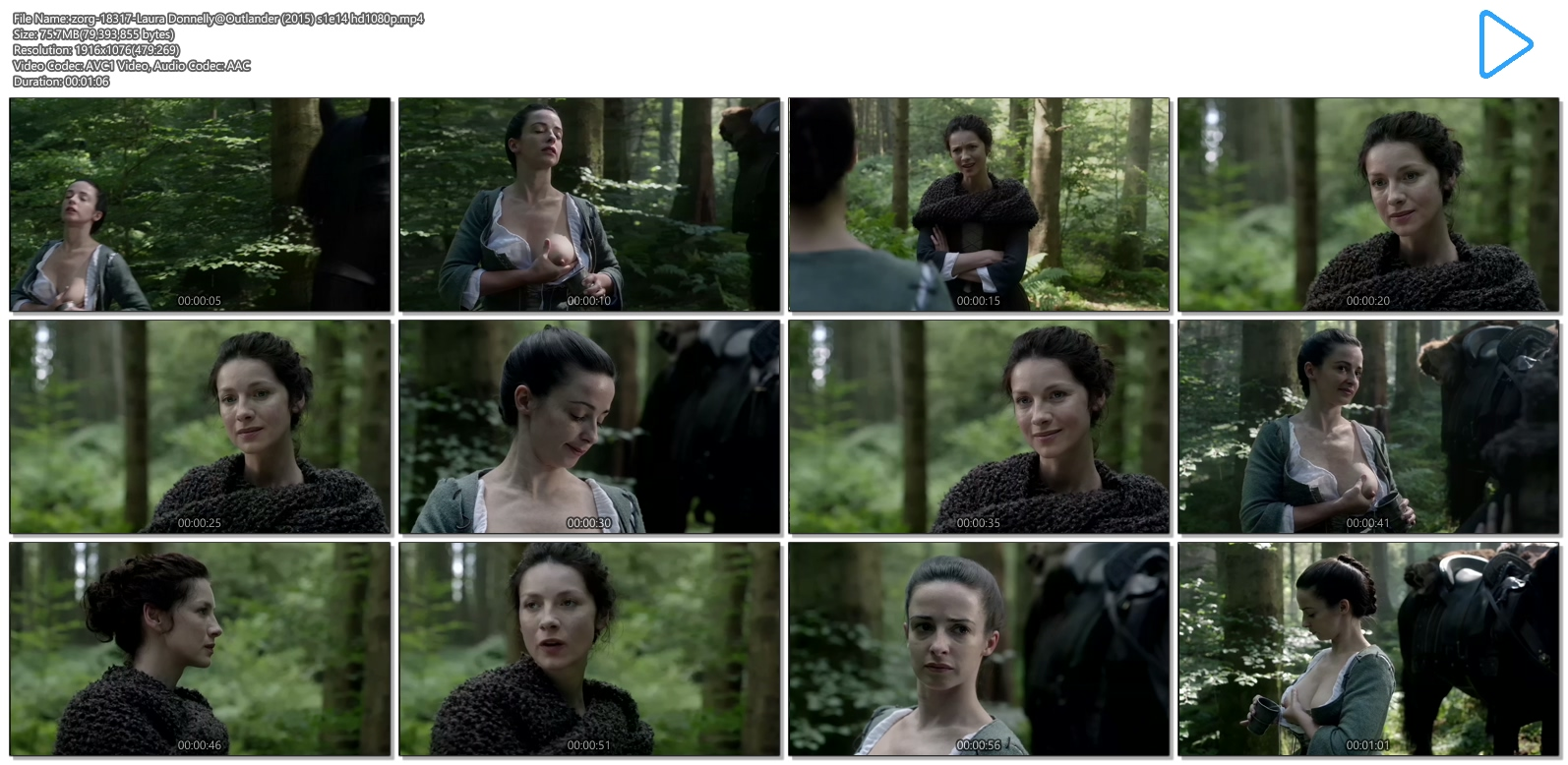 Laura Donnelly nude topless milking herself - Outlander (2015) s1e14 hd720-1080p (7)