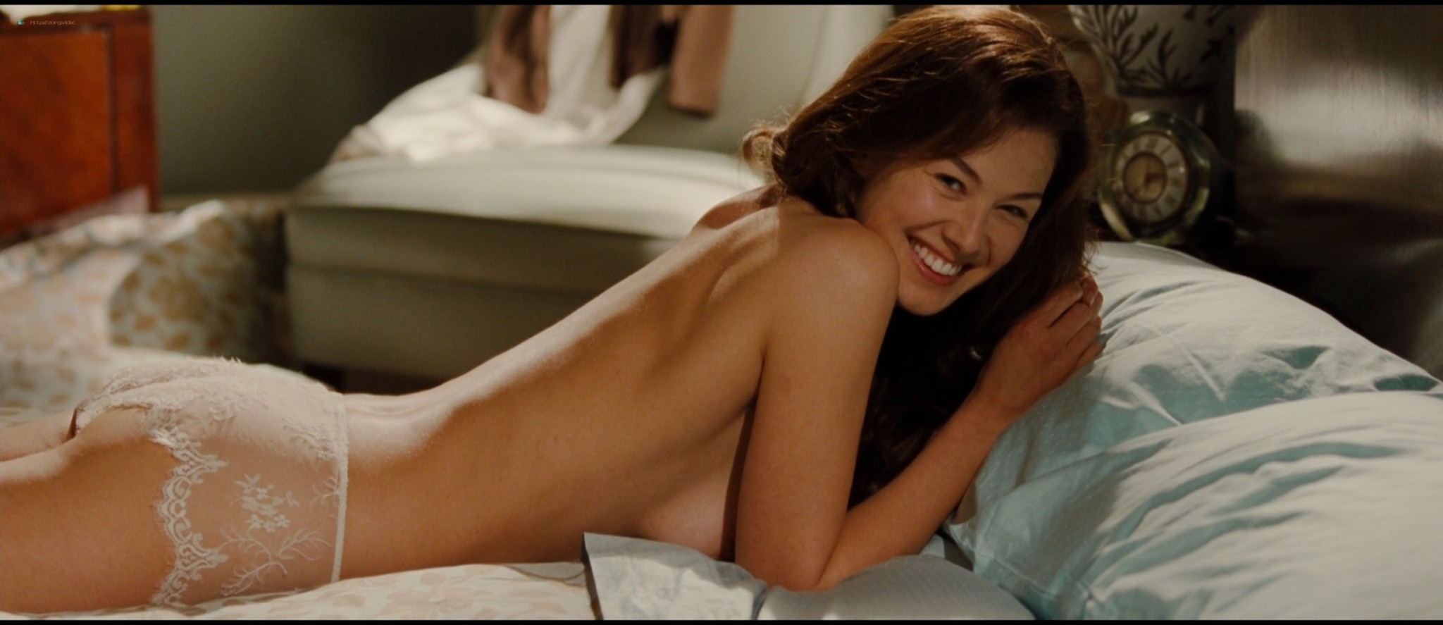 Rosamund Pike hot butt and see-through in lingerie - Barney's Version (2010) HD 1080p (3)
