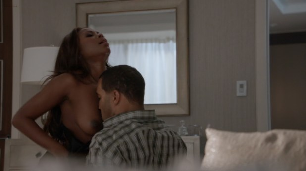 Naturi Naughton nude topless and sex and Beverly Sade bj - Power (2015) s2e2 hd720-1080p (1)