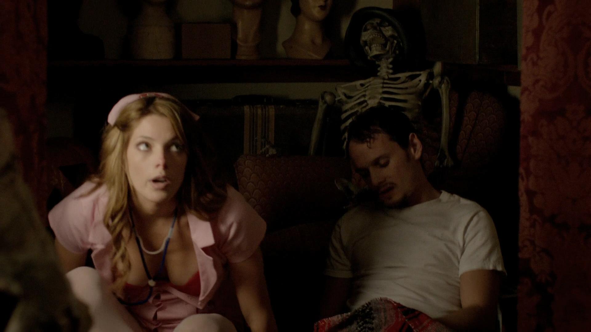 Alexandra Daddario hot cleavage and Ashley Greene hot - Burying the Ex (2014) hd1080p BluRay (7)