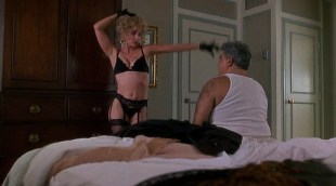 Kathleen Quinlan hot in black lingerie and Joanne Whalley nude covered in shower - Trial by Jury (1994)