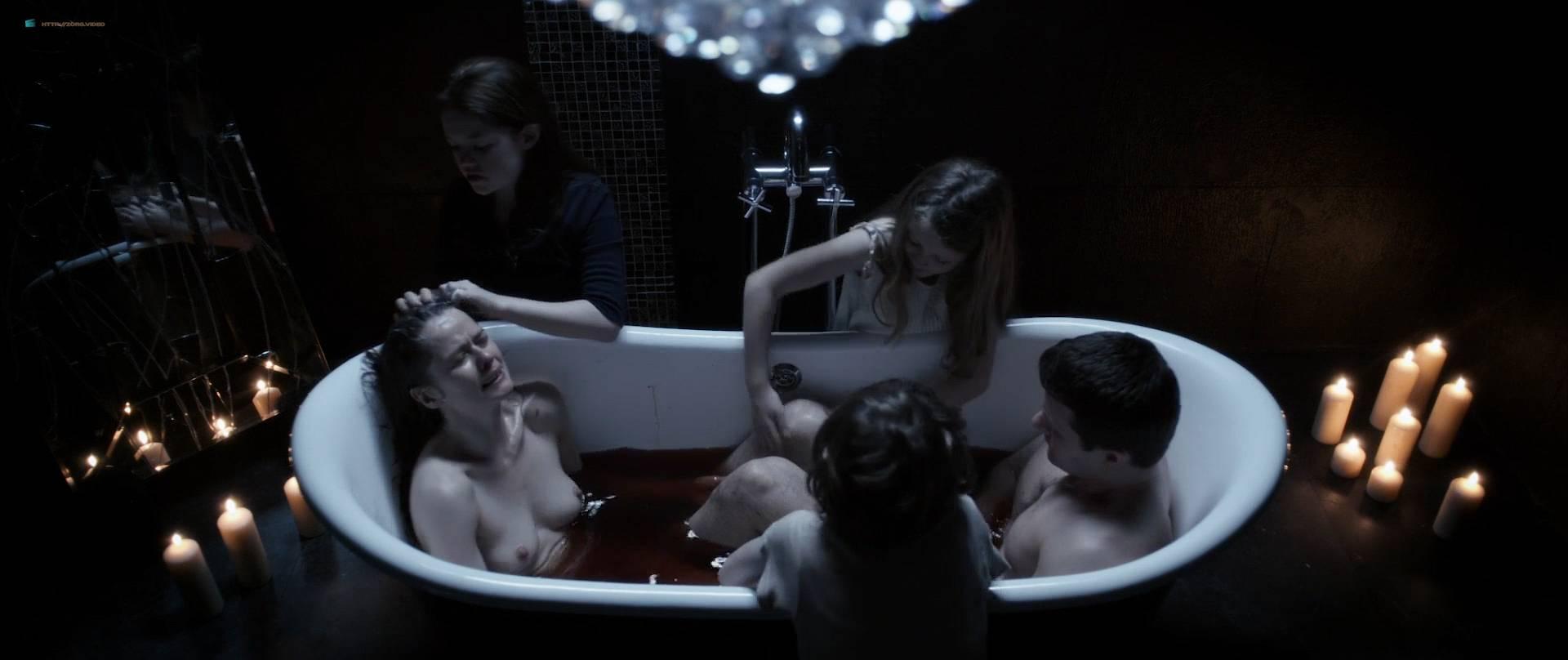 Marcella Plunkett nude topless in bath - Dark Touch (2013) HD 1080p BluRay (4)