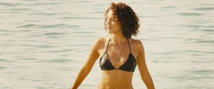 Nathalie Emmanuel hot in bikini and Michelle Rodriguez hot too - Furious Seven (2015) HD 1080p BluRay