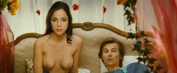 Karina Testa nude topless and Carine Lacroix not nude hot in lingerie - Ze film (FR-2005) (1)