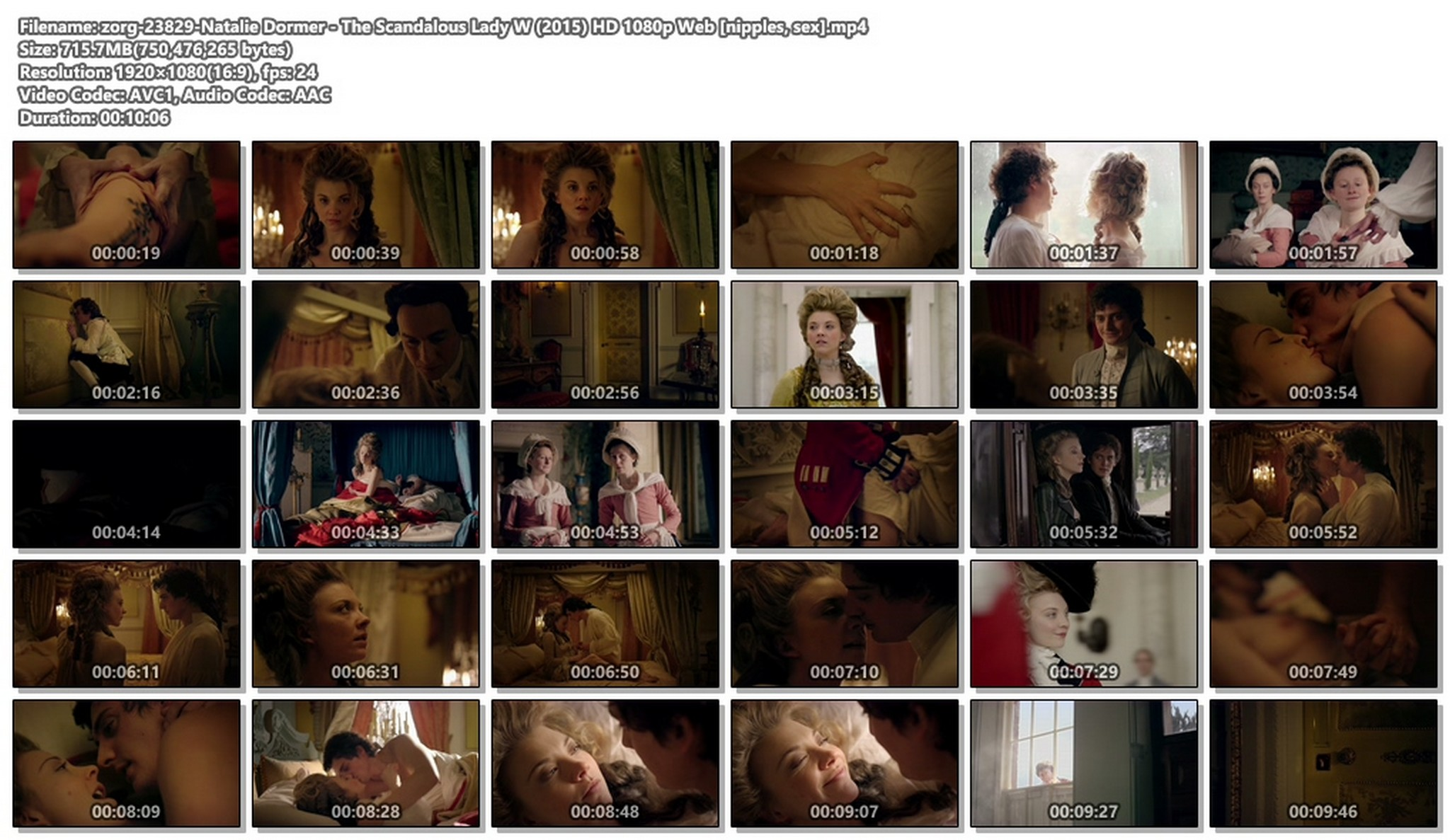 Natalie Dormer nude shy nipple and lot of sex – The Scandalous Lady W (2015) HD 1080p Web (1)
