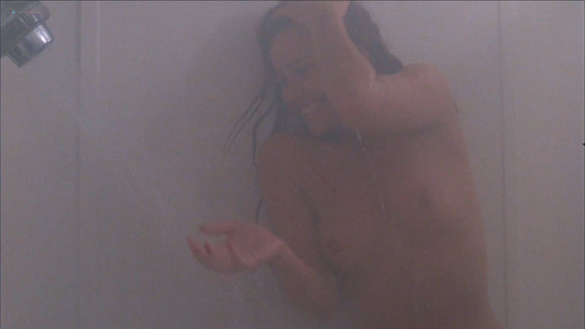 Tawny Kitaen nude bush and topless in the shower - Witchboard (1985) HD 1080p (7)
