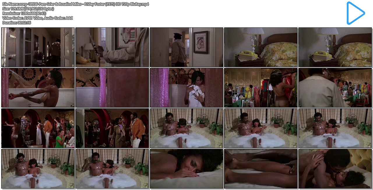 Pam Grier nude in shower and Rosalind Miles nude too - Friday Foster (1975) HD 720p BluRay (8)