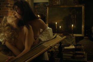 Sarah Gadon nude nipple and Malin Buska nude and lesbian sex – The Girl King (2015) HD 1080p BluRay
