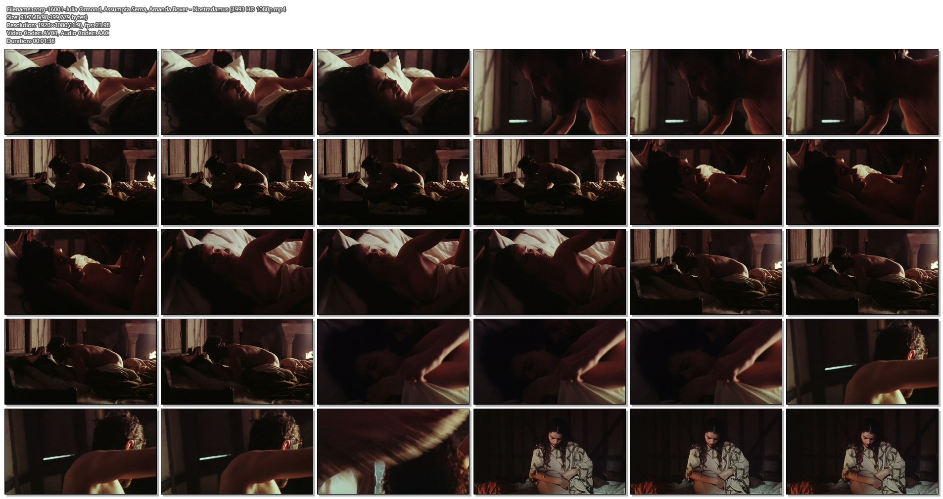 Julia Ormond nude brief topless Assumpta Serna nude topless Amanda Boxer and Diana Quick all nude topless - Nostradamus (1993) HD 1080p BluRay (12)