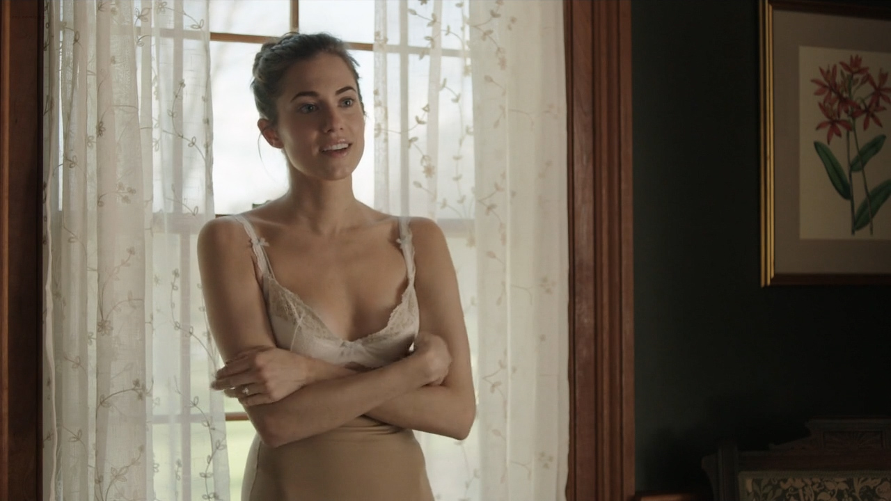 Allison Williams hot in bra and cute and Lena Dunham nude sex in the car - Girls (2016) S05E01 HDTV 720p (5)