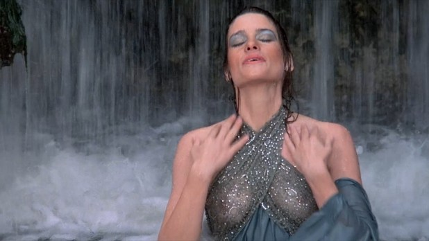 Gina Calabrese nude bush, full frontal and Leslie Wing hot see-through - The Dungeonmaster (1984) HD 1080p (12)