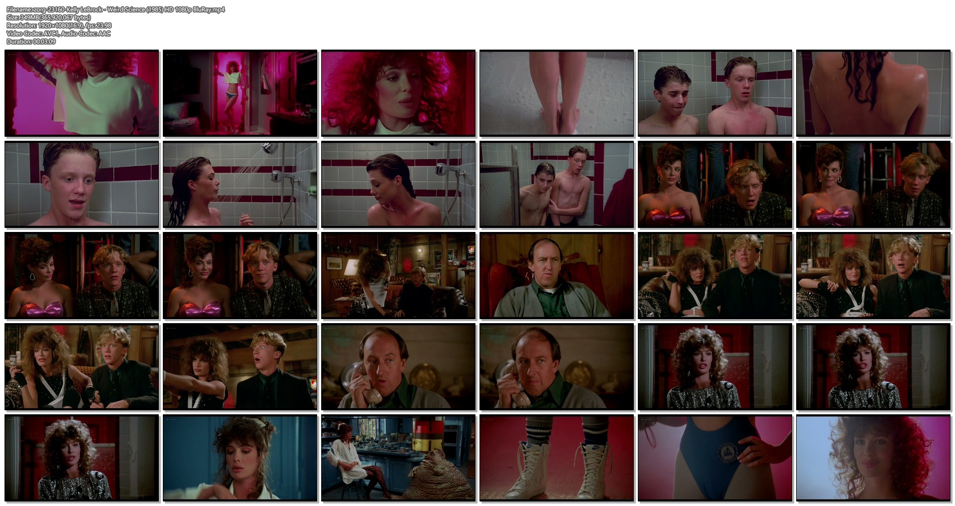 Kelly LeBrock hot and sexy - Weird Science (1985) HD 1080p BluRay (1)