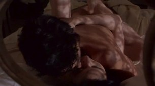 Kim Cattrall nude topless and Meg Tilly hot sex - Masquerade (1988) (2)