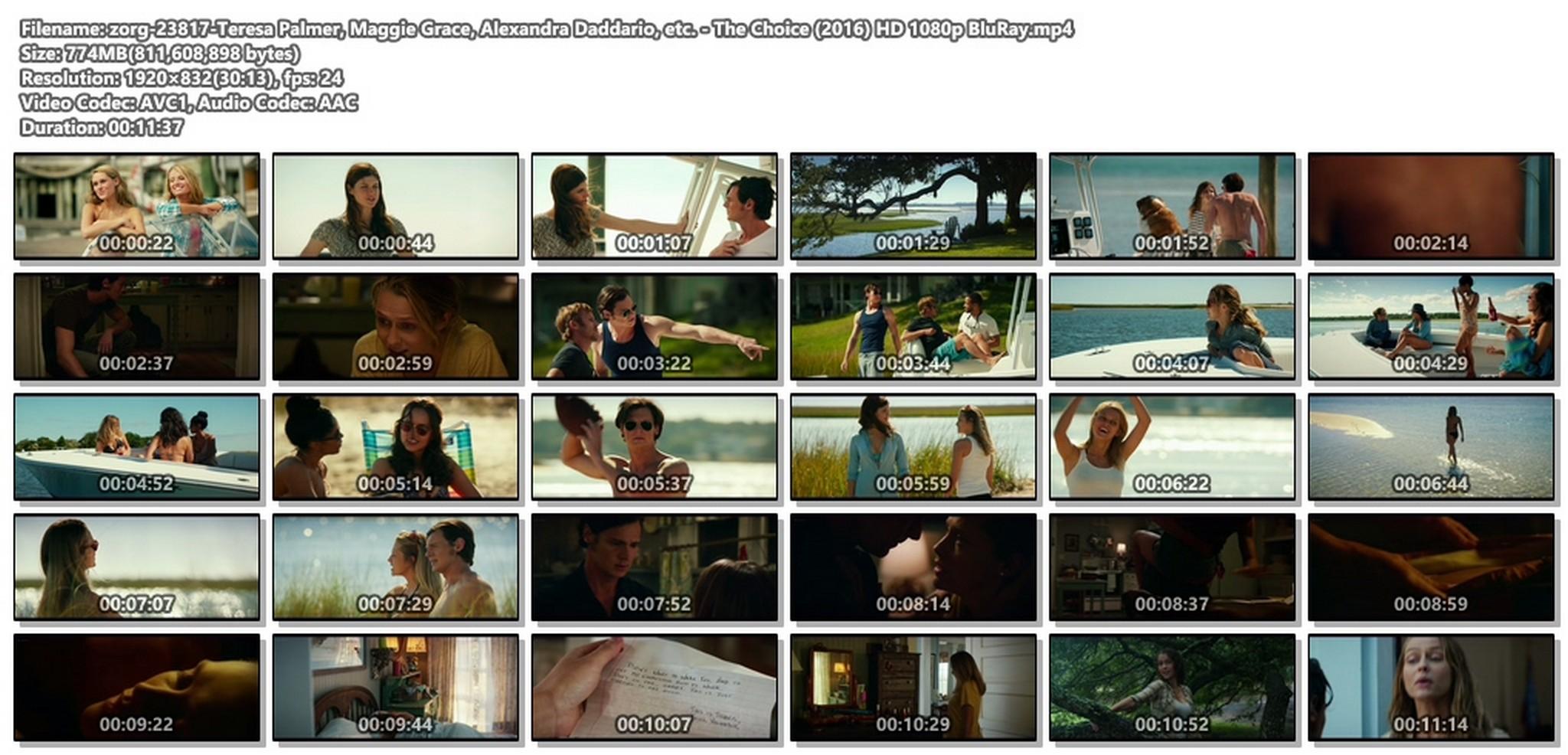 Teresa Palmer hot bikini and Maggie Grace, Alexandra Daddario hot too - The Choice (2016) HD 1080p BluRay (1)