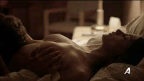 Ashley Greene nude topless riding a dude - Rogue (2016) s3e18 HD 720p (10)