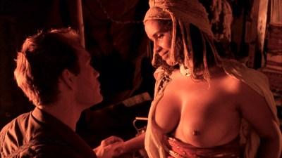 Debra Winger nude bush brief boobs and butt Amina Annabi nude topless- The Sheltering Sky (1990) HD 1080p BluRay (8)