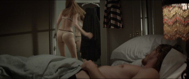 Louise Bourgoin nude nipple and hot in thong - Mojave (2015) HD 1080p BluRay (7)