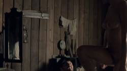Evan Rachel Wood nude topless and butt Angela Sarafyan nude topless - Westworld (2016) s1e1 HD 1080p (5)