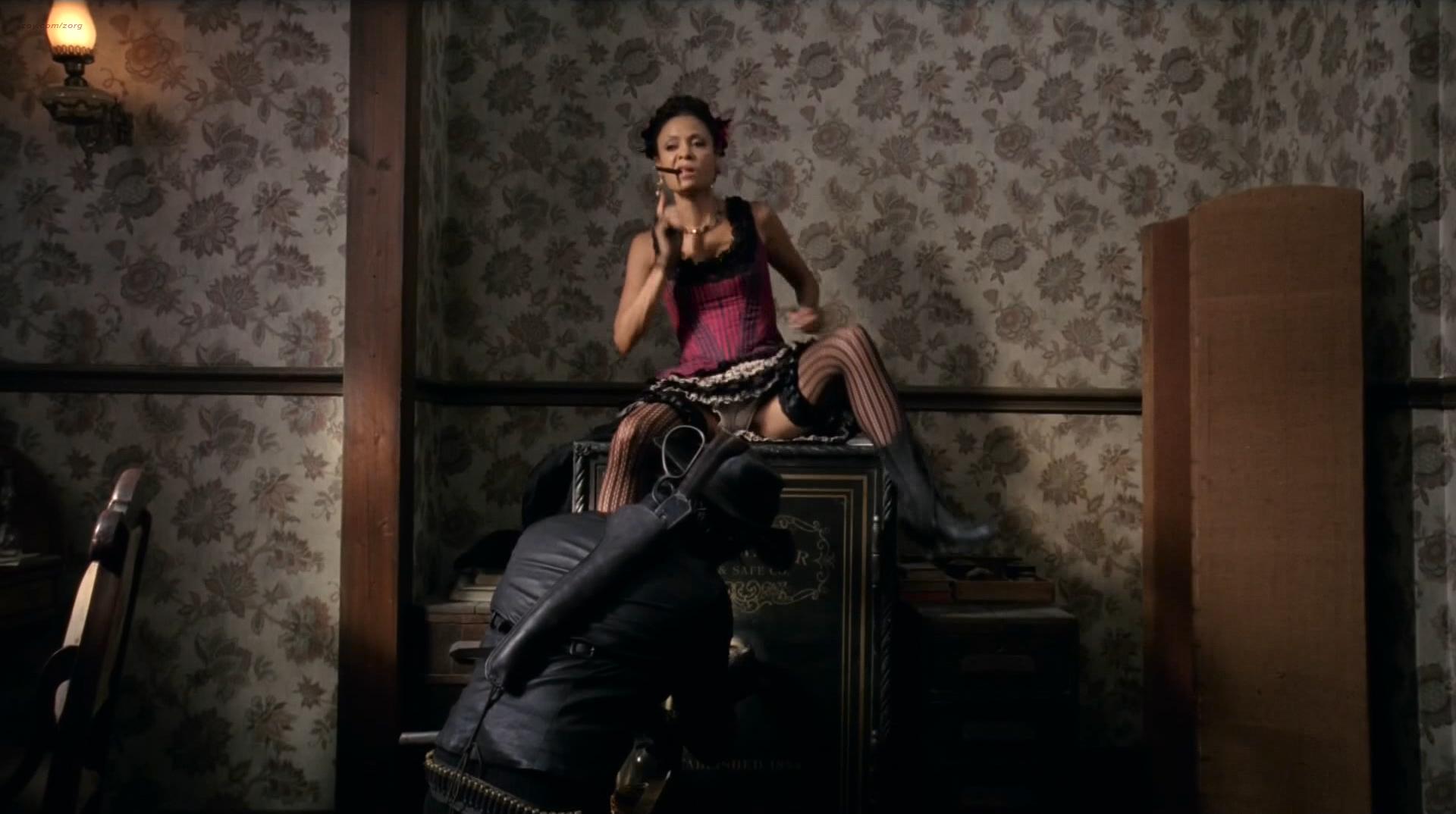 Ingrid Bolsø Berdal nude topless Thandie Newton hot panties - Westworld (2016) s1e4 HD 1080p (3)