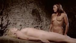 Jacqueline Dupré nude bush, Marina Hedman nude full frontal fellatio other's nude too - La Bimba di Satana (1982) (11)