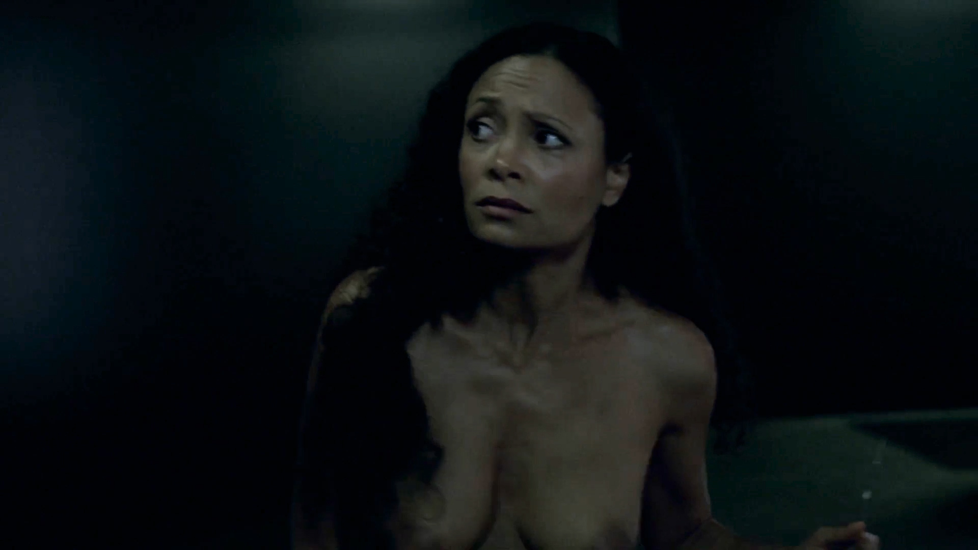 Thandie Newton nude topless and butt - Westworld (2016) s1e2 HD 1080p (3)