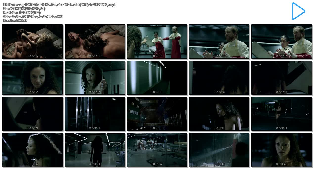 Thandie Newton nude topless and butt - Westworld (2016) s1e2 HD 1080p (8)