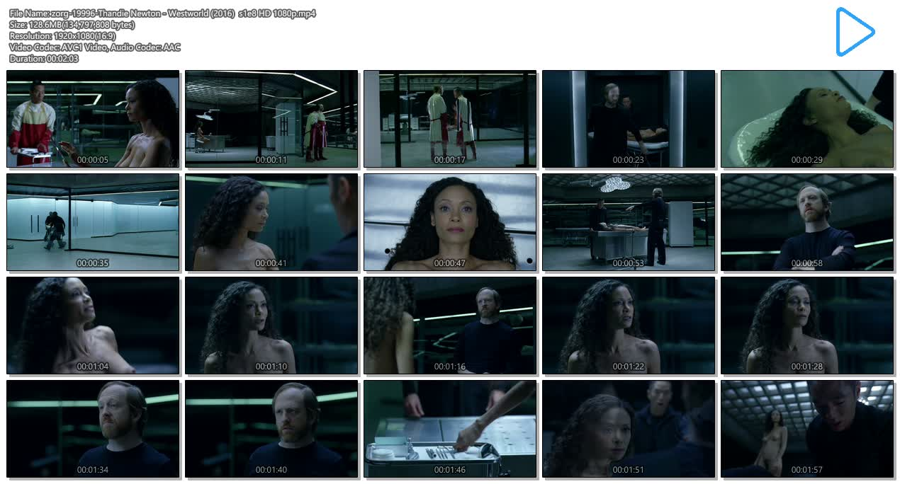 Thandie Newton nude bush and boobs - Westworld (2016) s1e8 HD 1080p (8)