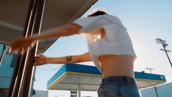 Kristen Stewart hot sexy nipple slip - The Rolling Stones - Ride 'Em On Down (5)