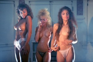 Michelle Bauer nude bush, Linnea Quigley and Brinke Stevens nude and wet – Nightmare Sisters (1988) HD1080p