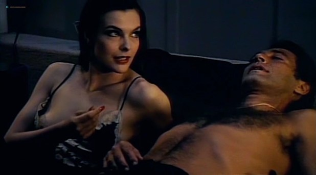Carole Bouquet hot nip slip and Janet Agren sexy - Mystere (IT-1983) (2)