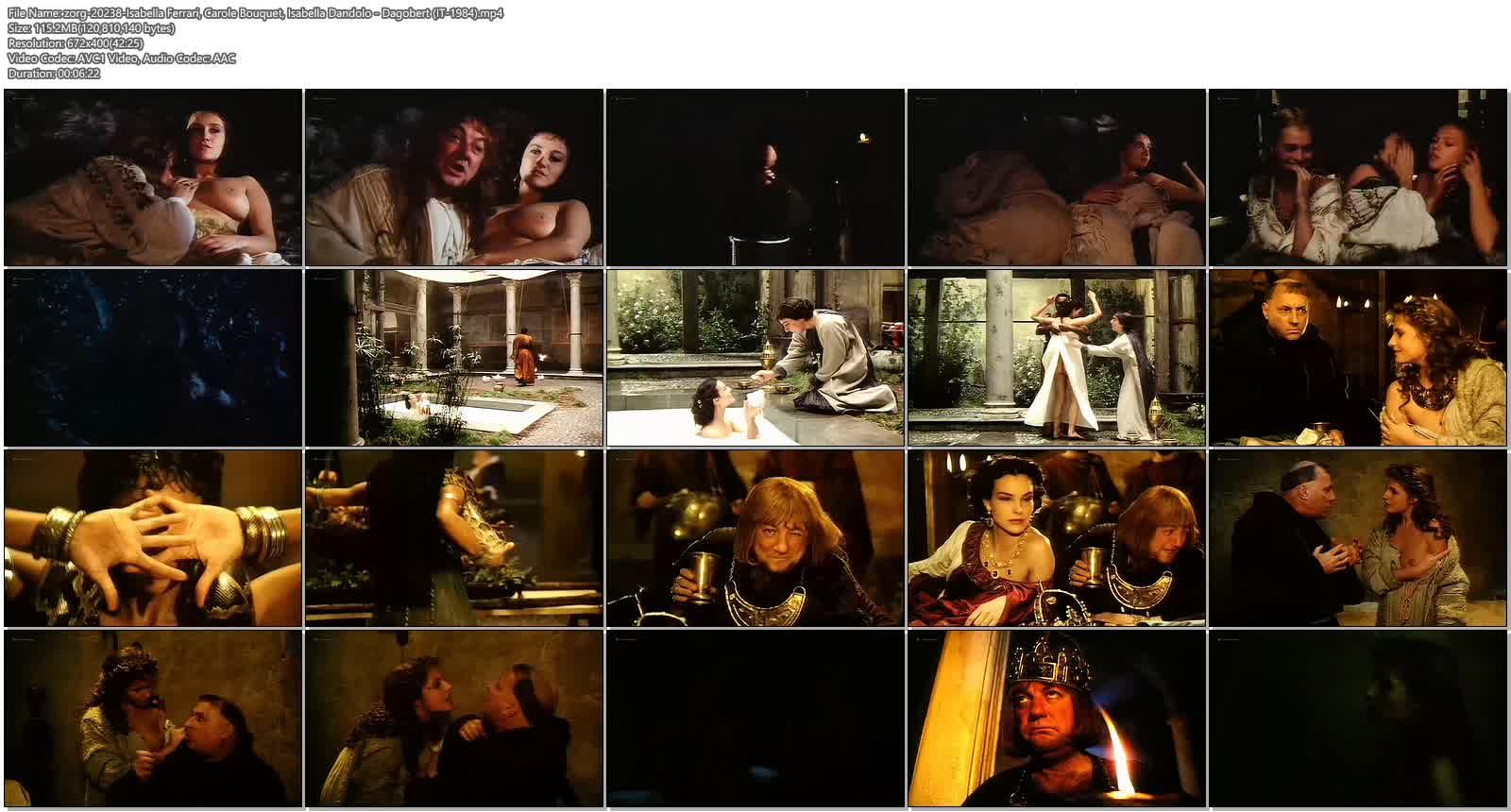 Isabella Ferrari nude topless Carole Bouquet nude butt Isabella Dandolo nude- Dagobert (IT-1984) (10)