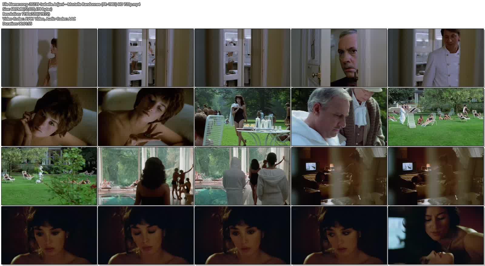 Isabelle Adjani nude topless – Mortelle Randonnee (FR-1983) HD 720p BluRay (8)