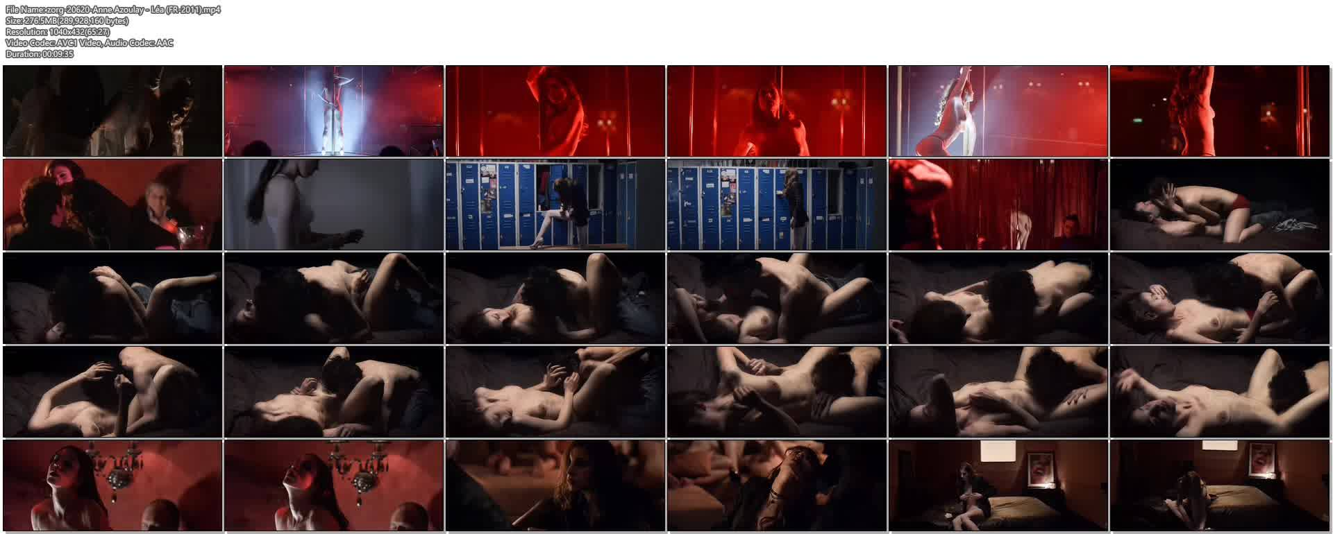 Anne Azoulay nude butt, bush as stripper and some hot sex- Léa (FR-2011) (1)