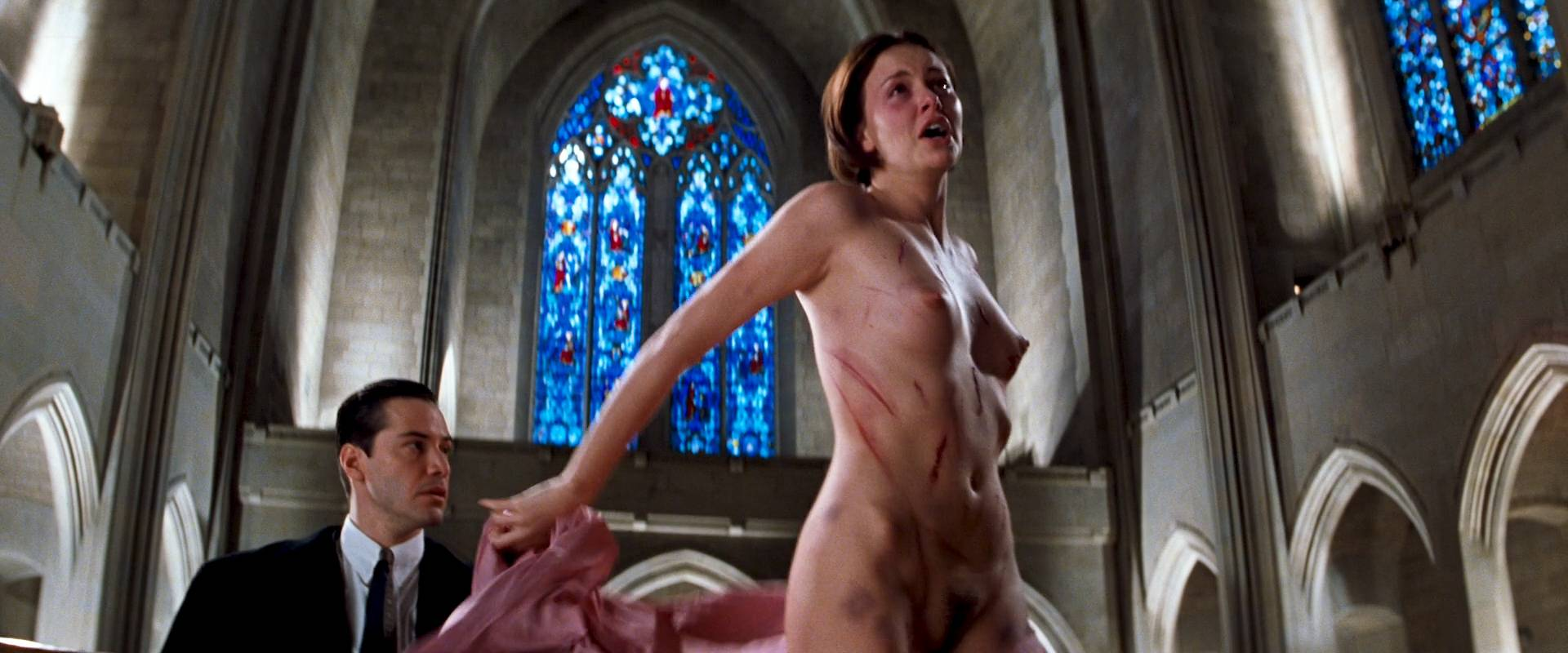 Charlize Theron nude full frontal Connie Nielsen nude bush - The Devil's Advocate (1997) HD 1080p BluRay (6)