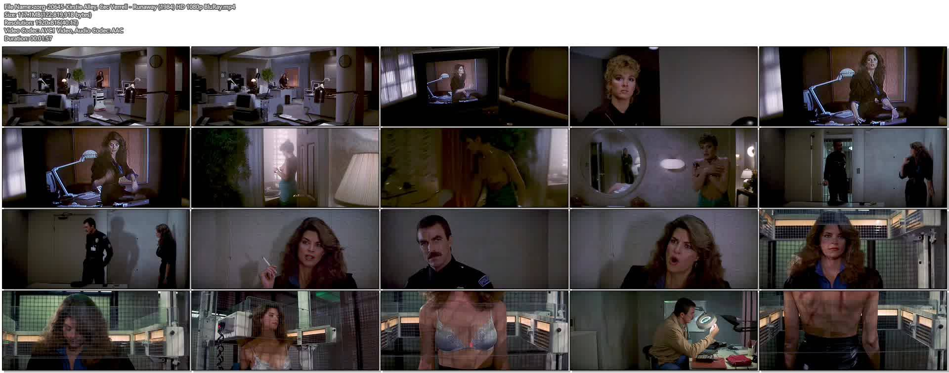 Kirstie Alley Hot And Cec Verrell Nude Topless - Runaway -3680