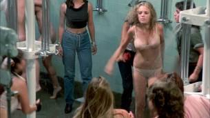 Linda Blair nude Linnea Quigley nude bush Suzee Slater and Rebecca Perle nude too - Savage Streets (1984) HD 1080p BluRay (7)
