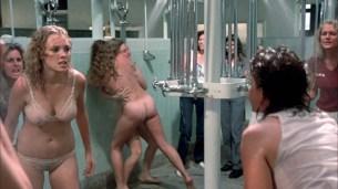 Linda Blair nude Linnea Quigley nude bush Suzee Slater and Rebecca Perle nude too - Savage Streets (1984) HD 1080p BluRay (6)
