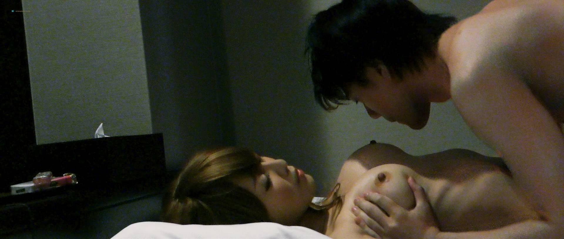 Misaki Morino nude Mitsue Wakamatsu and Natsuko Kimura nude sex, lesbian - Atashira (JP-2017) HD 1080p BluRay (12)