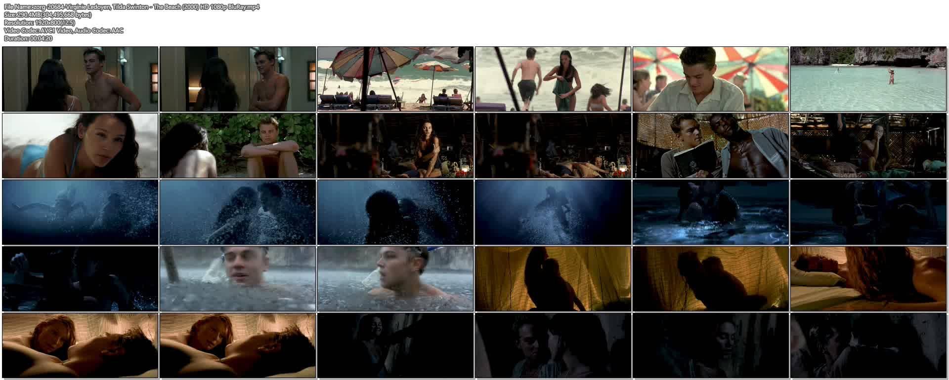 Virginie Ledoyen nude topless Tilda Swinton hot sex - The Beach (2000) HD 1080p BluRay (1)
