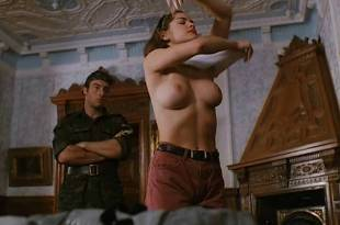 Athena Massey nude topless and sex outdoor – Termination Man (1998)