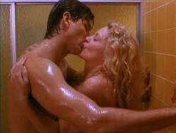 Beverly D'Angelo nude sex in the shower Sharon Farrell nude Rebecca Street bikini - Lonely Harts (1991) (8)