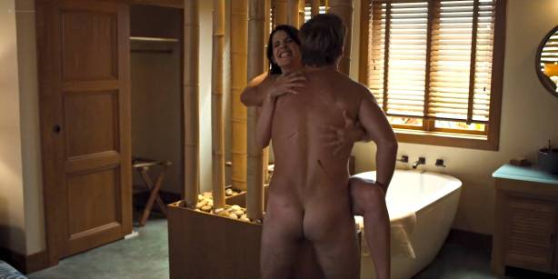 Cobie Smulders nude but covered in hot sex scene - Friends from College (2017) s1e7 HD 1080p Web (6)