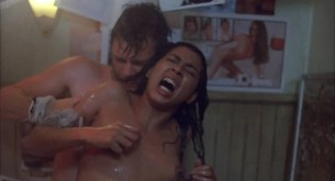 Irene Cara nude bush and boobs in the shower - Certain Fury (1985) HD 1080p BluRay (6)