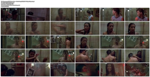 Irene Cara nude bush and boobs in the shower - Certain Fury (1985) HD 1080p BluRay (1)