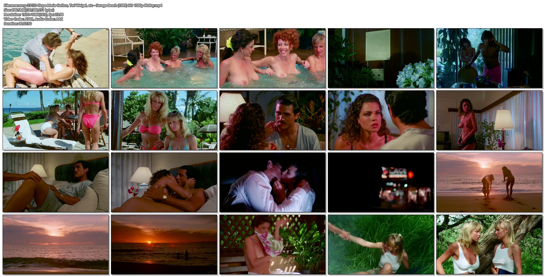 Hope Marie Carlton nude bush Teri Weigel sex in the car Maxine Wasa and other's nude - Savage Beach (1989) HD 1080p BluRay (35)