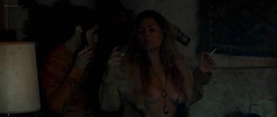 Teresa Palmer nude side boob Sibongile Mlambo nude topless - Message from the King (2016) HD 1080p BluRay (13)