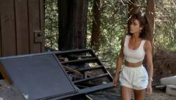Teri Weigel nude topless Vickie Benson, Betsy Russell and other's hot and sexy - Cheerleader Camp (1988) (6)