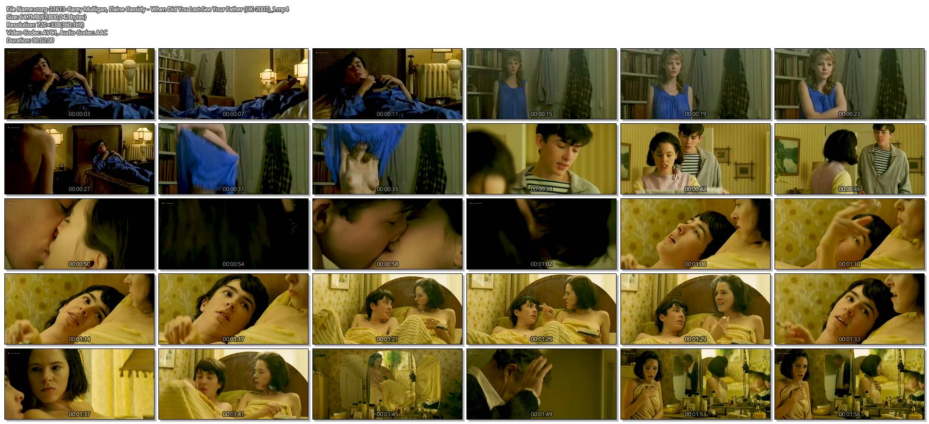 Carey Mulligan nude brief topless and Elaine Cassidy hot and sexy - When Did You Last See Your Father (UK-2007) (1)