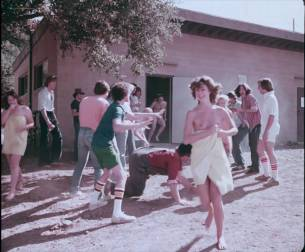 Linnea Quigley nude topless Jacqueline Giroux nude topless and bush lot of sex others nude - Summer Camp (1979) HD 1080p (9)