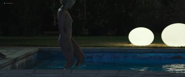 Toni Collette nude bush and boobs while skinny dipping - Madame (2017) HD 1080p WEB (11)